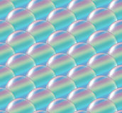 Crystal ball overlap pattern rainbow Stock Photography