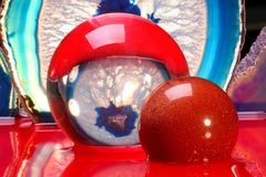 Crystal ball with paint Stock Photo