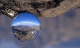 Crystal ball photography - Caldera de Tejeda stock photo