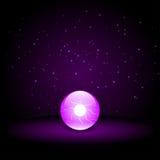 Crystal Ball porpora Fotografia Stock