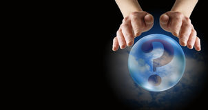 Crystal Ball Reading Banner Stock Image