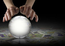 Crystal Ball Reading and Tarot Cards Royalty Free Stock Photography