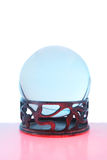 Crystal ball red and blue Royalty Free Stock Photos