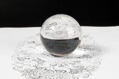 Crystal Ball Reflection di vetro Fotografie Stock