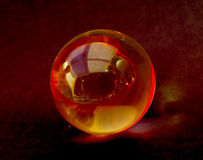 Crystal ball with reflections Royalty Free Stock Photo