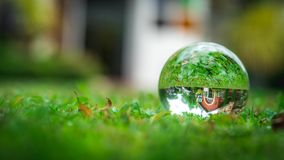 Crystal Ball With Residential House fotos de stock royalty free
