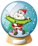 A crystal ball with Santa Claus inside Stock Photo