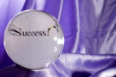 Crystal ball seeing success stock photo