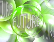 Crystal Ball Showing the Future Royalty Free Stock Photos