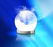 Crystal Ball and snow Royalty Free Stock Photos