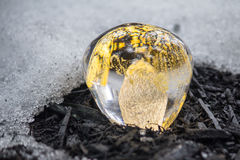 Crystal Ball and Snow Royalty Free Stock Image