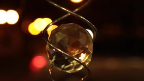 Crystal ball spinning night stock video