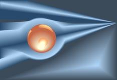 Crystal Ball Technology Background vector illustration