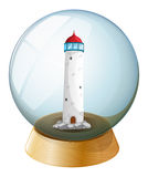 A crystal ball with a tower inside Royalty Free Stock Images
