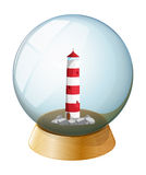 A crystal ball with a tower inside Royalty Free Stock Photography