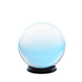 Crystal ball turquoise light Stock Image