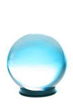 Crystal ball turquoise and white light Stock Photo