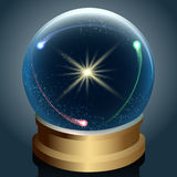 Crystal ball with universe inside Stock Photography