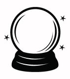 Crystal ball. Vector black crystal ball icon on white Stock Photo