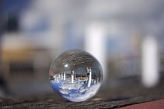 Crystal ball view of Darling Harbour, Sydney Stock Photos