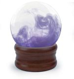Crystal ball on white Royalty Free Stock Images
