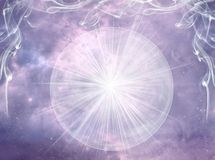 Free Crystal Ball With Rays Of Light Over Mystical Sky Like Magic Esoteric Spiritual Background Stock Photography - 135996712