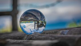 Crystal Ball With Green Tree stock images