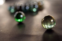 Crystal balls. In black background royalty free stock images