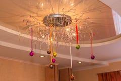 Crystal Balls Christmas Decorations imagen de archivo libre de regalías