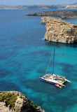 Crystal Bay, Comino island, Malta. The crystal clear waters of Comino Island, Malta Stock Photography