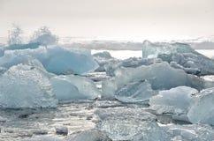 Crystal Beach en Islandia Fotos de archivo