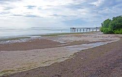 Crystal Beach, marea baja fotos de archivo