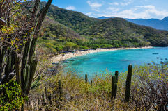Crystal Beach at Tayrona National Park, Colombia Royalty Free Stock Photo