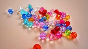 Crystal Beads coloré assorti photos stock
