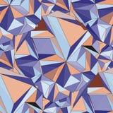 crystal Bezszwowy 3D Geometryczny tło Obrazy Royalty Free