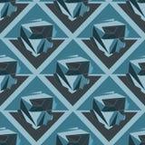 crystal Bezszwowy 3D Geometryczny tło Zdjęcie Royalty Free