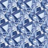 crystal Bezszwowy 3D Geometryczny tło ilustracja wektor