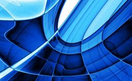 Crystal blue abstract background Stock Image