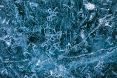 Crystal blue ice background Stock Images