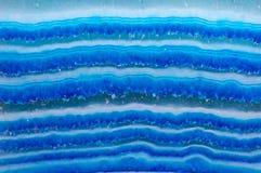 Crystal Blue Onyx Makro Lizenzfreies Stockbild