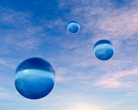 Crystal Blue Orbs Royalty Free Stock Image