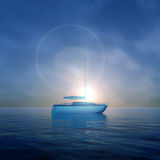 Crystal Boat Sunrise Images stock