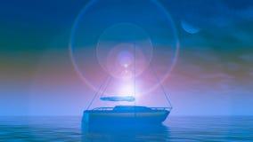 Crystal Boat Sunrise imagem de stock