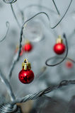 A Crystal Bobble Christmas Ornament hanging from a wire Royalty Free Stock Photography