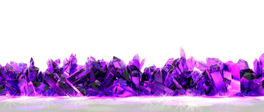Crystal border. Bottom border of pink crystal Royalty Free Stock Images