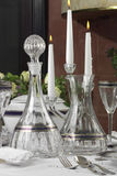 Crystal bottle and carafe stock photos