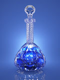 Crystal bottle of poison Stock Photography