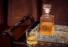 A crystal bottle of whiskey Royalty Free Stock Photo
