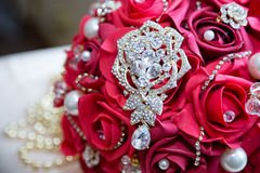 Crystal on bouquet Stock Photography