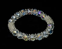 Crystal bracelet on black background Royalty Free Stock Photos